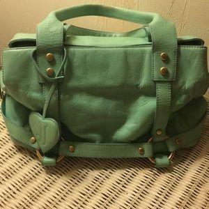 Beautiful aqua green juicy couture leather purse